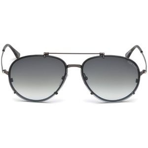 Tom Ford Dickon Sunglasses Black w/Grey Lens